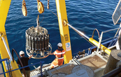 Deploying the CTD instrument from the RV Southern Surveyor