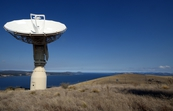 Earth receiving station satellite dish, Droughty Point, Hobart, Tasmania