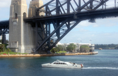 Charter boat on Sydney harbour