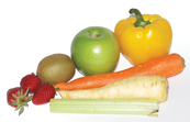 A selection of fruit and vegetables [ID:10461]