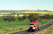 Truck on highway, rural NSW
