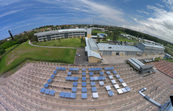 Solar panels spelling out CSIRO