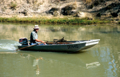 Fisherman on Murray River near Cadell, SA. 2006. [ID:3727]