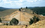 Abandoned gold and copper mine workings at Captain's Flat near Canberra, ACT. 1998.