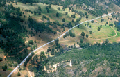 Aerial view of the Perth - Kalgoorlie water supply pipeline. WA. 1975.
