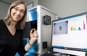 CSIRO's Leanne Bischof helped design the Gemmological Digital Analyser (GDA) and the mathematical algorithms behind the opal image analysis software.