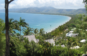 View over beach, Port Douglas, Queensland