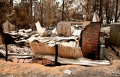 A destroyed property at Kinglake after the 'Black Saturday' ... [ID:10485]