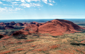 Aerial view of Kata Tjuta (Mount Olga) [ID:1259]