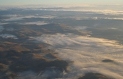 Low-lying clouds in valleys near Cambridge, Tasmania. [ID:3609]