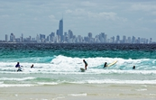 At the beach, Gold Coast, Queensland