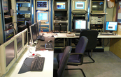 The computer lab on RV Southern Surveyor
