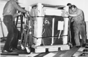 Delivery and installation of new computer (1970?)