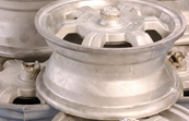 Lightweight magnesium alloy wheels from the T-Mag process in as-cast condition, before machine finishing