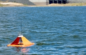 One of CSIRO's floating nodes monitoring Lake Wivenhoe