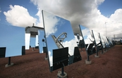 Heliostat (mirror) field at the National Solar Energy Centre in Newcastle, NSW.
