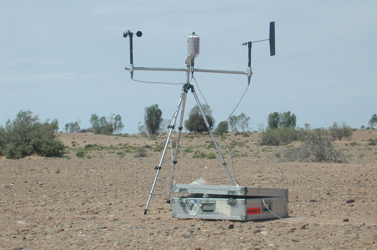 Weather Equipment on the Shore of Lake Frome