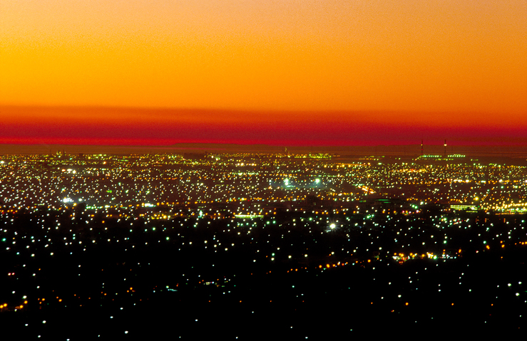 Sunset over Adelaide, South Australia. 1992.