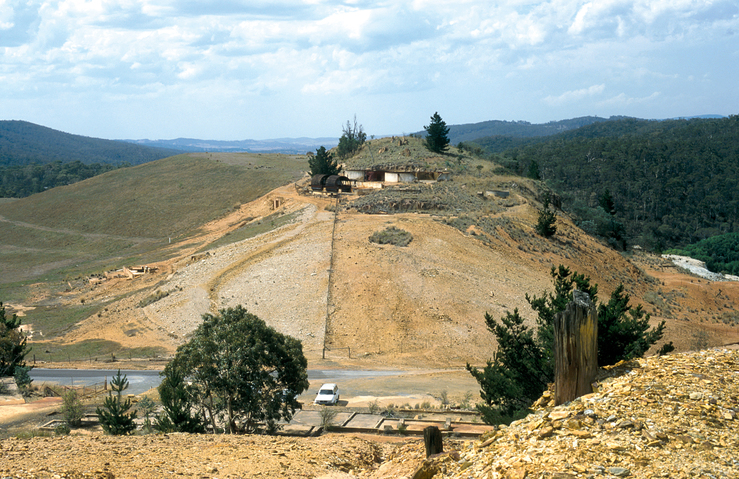 Abandoned gold and copper mine workings at Captain's Flat ne...