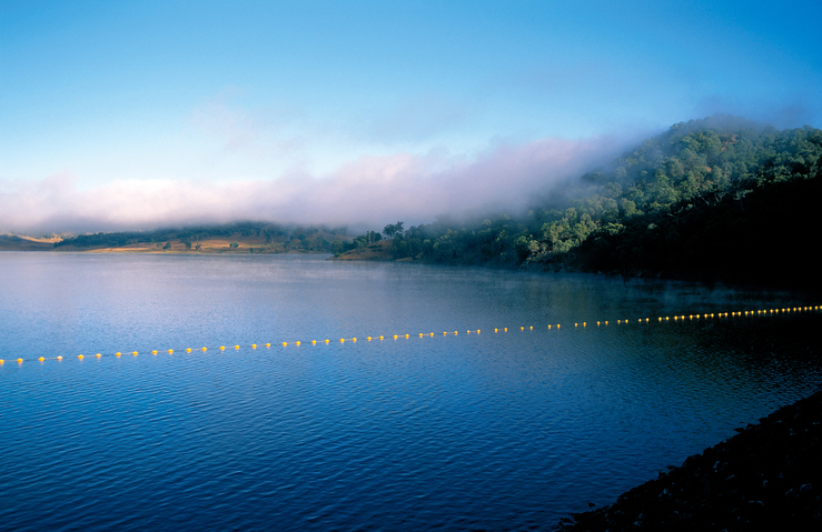 Clouds decending over the Chaffey Dam near Tamworth, NSW. 19...