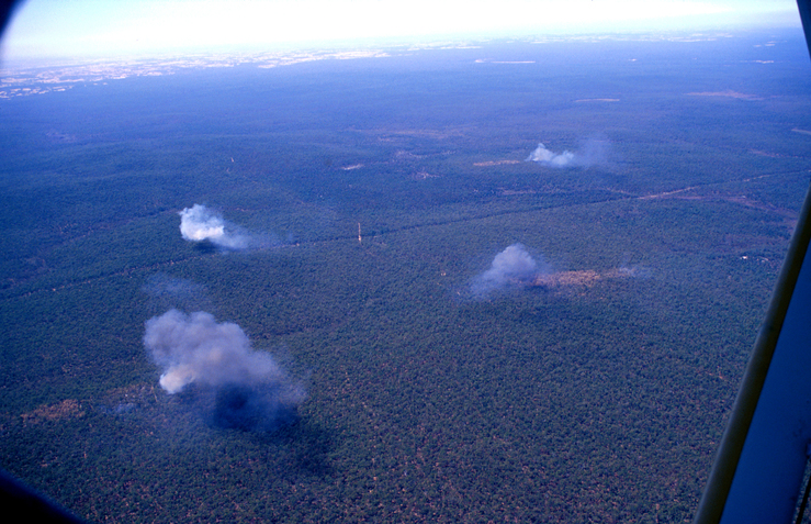Aerial View of Experimental Fires