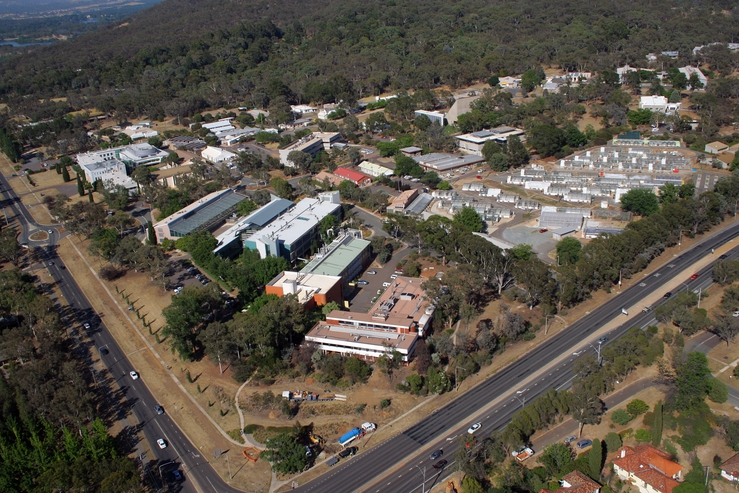 Aerial view of the CSIRO Black Mountain laboratories