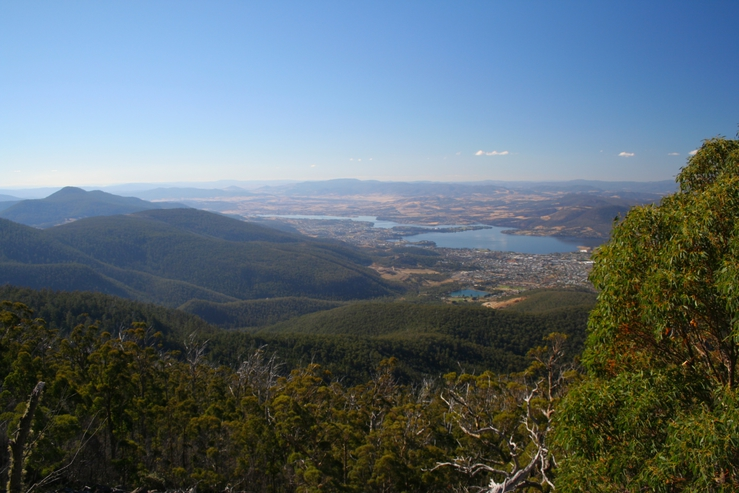 Derwent River valley, looking from Mt Wellington towards Gle...