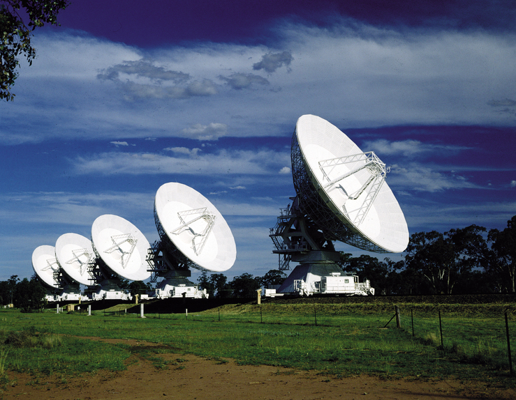 Five Antennas at Narrabri