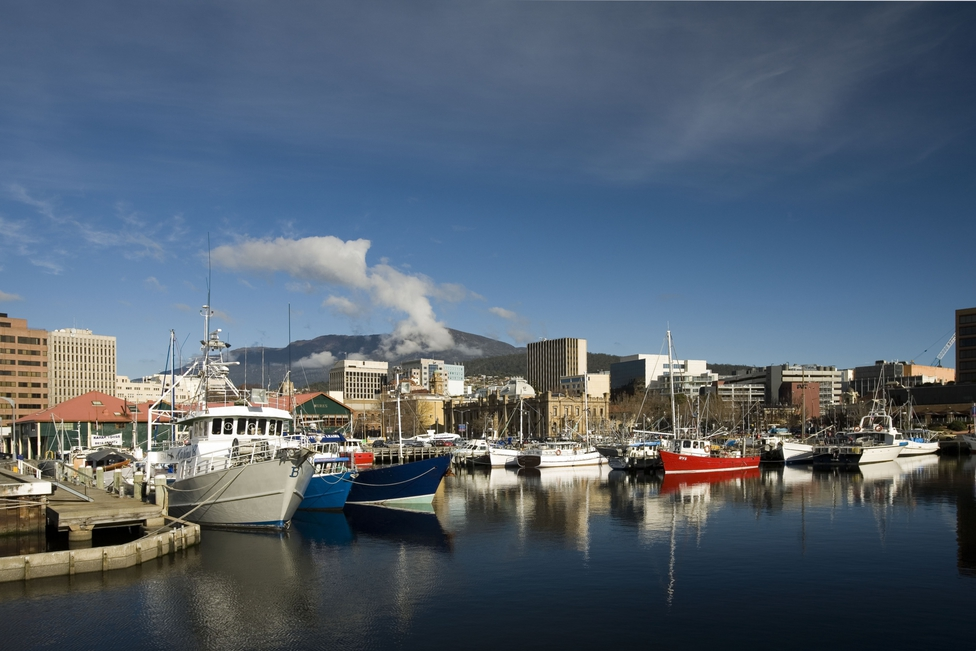 Fishing fleet in Hobart Tasmania