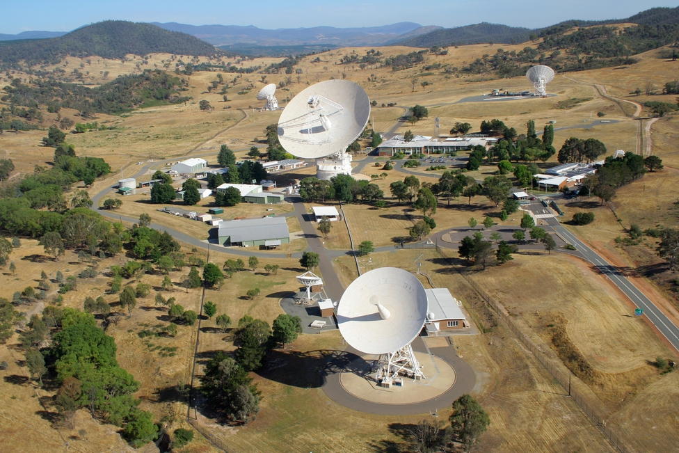 Aerial view of the Canberra Deep Space Communication Complex