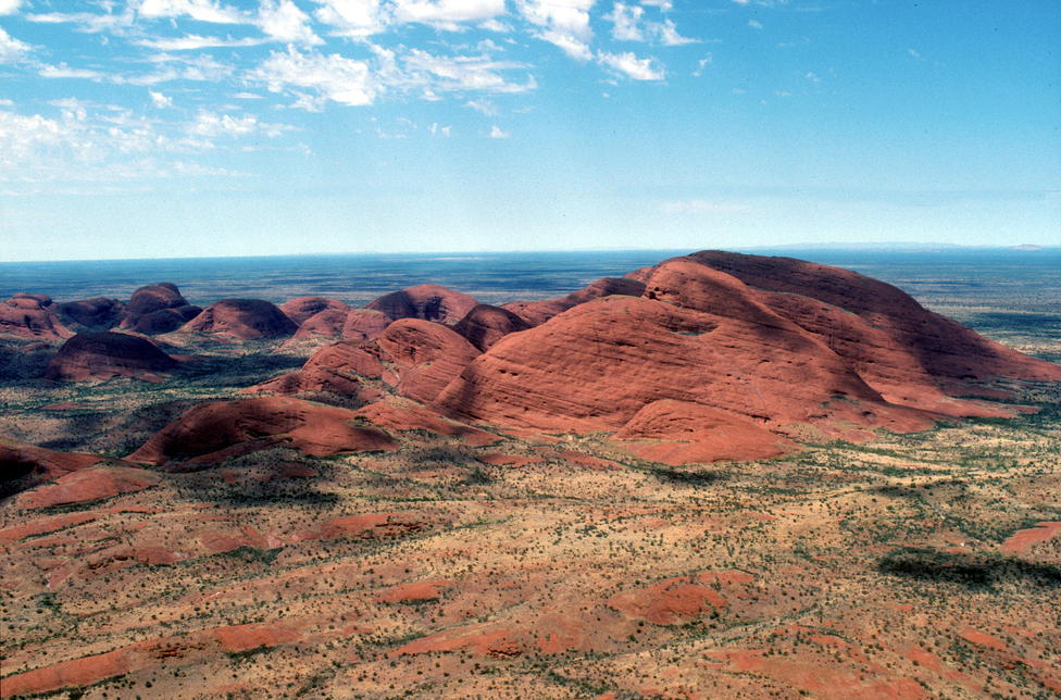 Aerial view of Kata Tjuta (Mount Olga)
