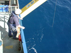 Waiting for deployment off Hero Deck of RV Southern Surveyor