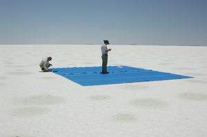 Blue sheet on Lake Frome