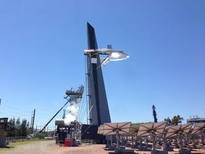 Solar tower at CSIRO Energy Centre creating solar steam.
