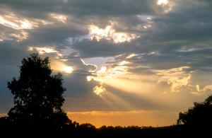 Sunset over the Adelaide Hills, South Australia. 1992.