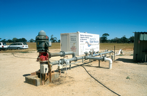 Bolivar Recycled Water Aquifer Storage & Recovery Trial site on the Adelaide Plains, SA. 2002.