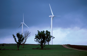 Wind powered electricity generators at Crookwell, NSW.
