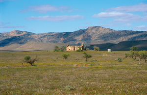 Abandoned homestead north of Hawker on the western edge of the Flinders Ranges, South Australia. 2003.