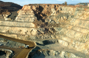 A 120 ton ore truck at the New Celebration Gold Mine