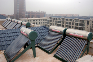 Solar hot water units
