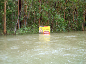 Flood in development area, northern Queensland