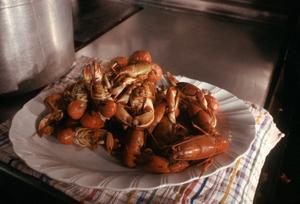 Freshly Steamed Seafood.