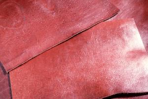 Damaged leather