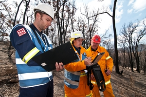 Conducting bushfire research at Strathewen after the 'Black Saturday' bushfires