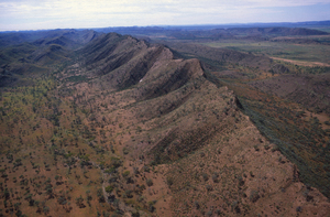 Aerial view of Central Australian Landscape.