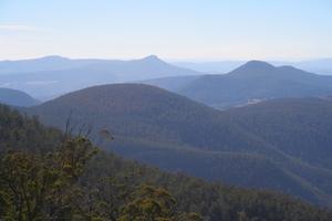 Mt Dromedary, Mt Faulkner and surrounding ranges, Tasmania