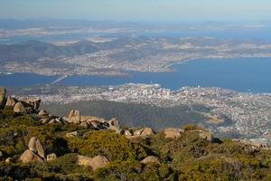 Hobart and the Derwent River, Tasmania
