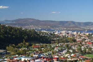 Hobart City and the Tasman Bridge, Tasmania