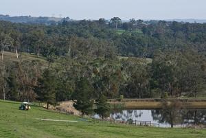 View over farmland