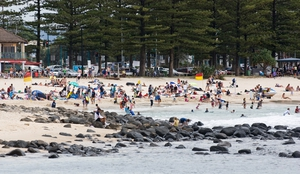 The beach at Burleigh Heads on the Gold Coast, Queensland